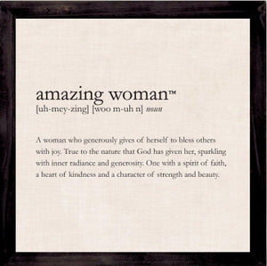 Definition Plaque-Amazing Woman (12 x 12)