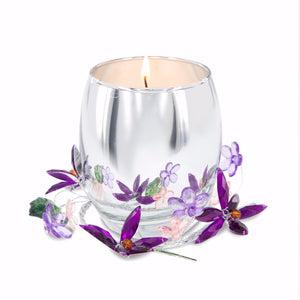 Candle-Godmother Purple Flower-Jasmine Scent (3.5 Oz Soy)