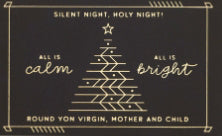 Pass-Around Card-Silent Night-Tree (Pack Of 25)