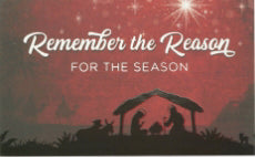 Pass-Around Card-Remember The Reason-Nativity (Pack Of 25)