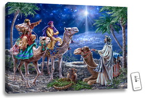 "Mounted Print-The Magi w-Remote (LED Illuminated) (24"" x 18"")"