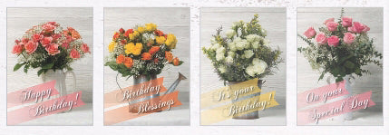 Card-Boxed-Birthday-Rose Bouquet (Box Of 12)
