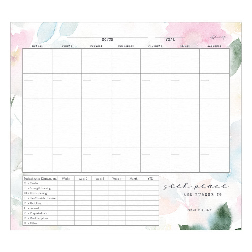 "Healthy Habits Planner-Seek Peace (9-3-8"" x 8-3-8"")"