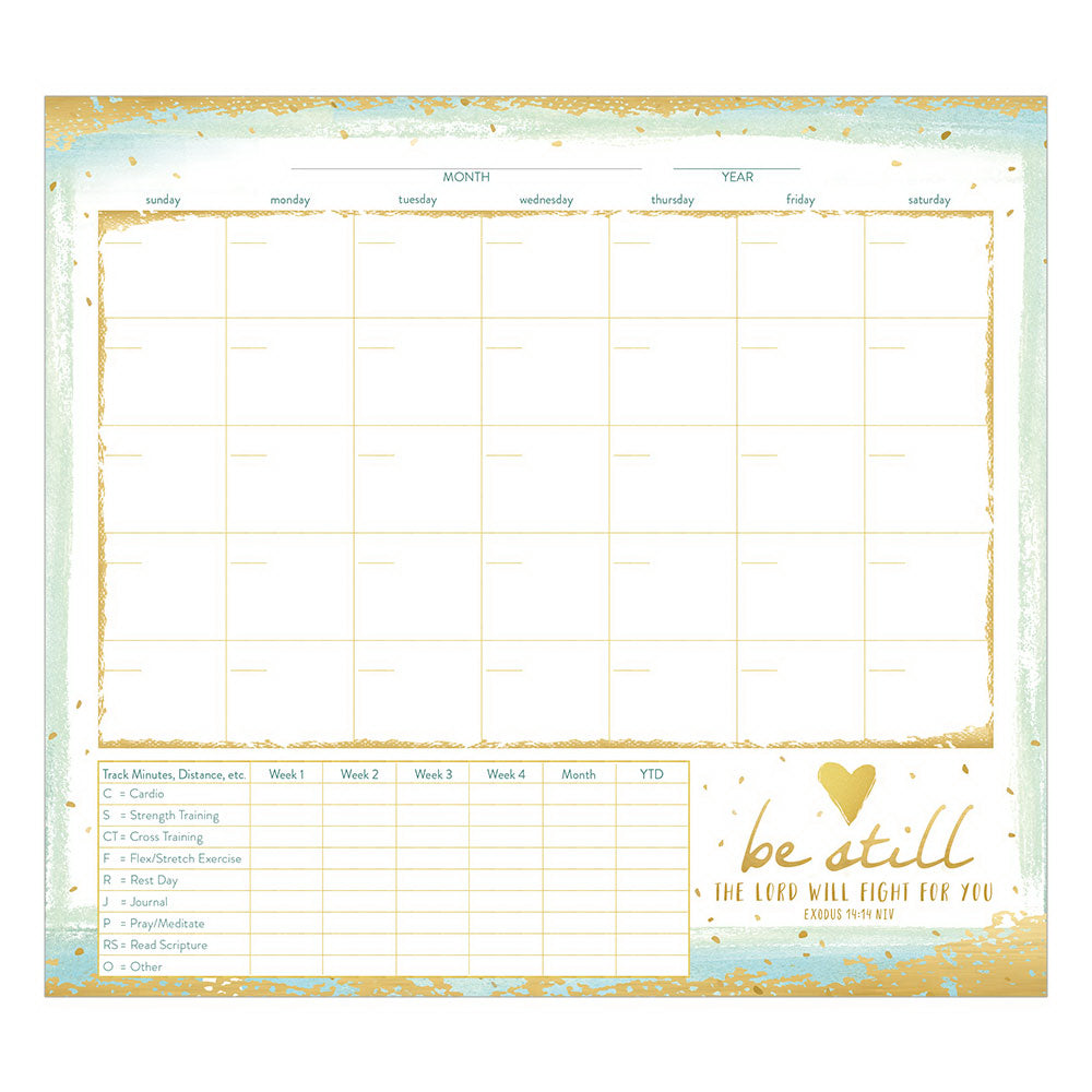 "Healthy Habits Planner-Be Still (9-3-8"" x 8-3-8"")"