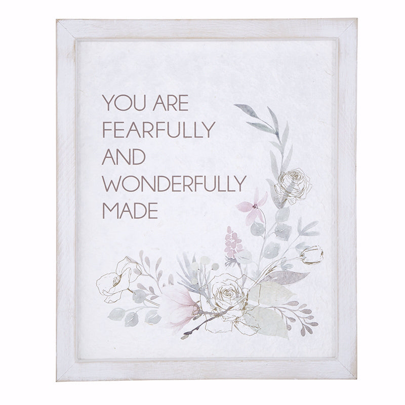 "Wall Art Christian Verse-Fearfully & Wonderfully Made (12"" x 18"")"