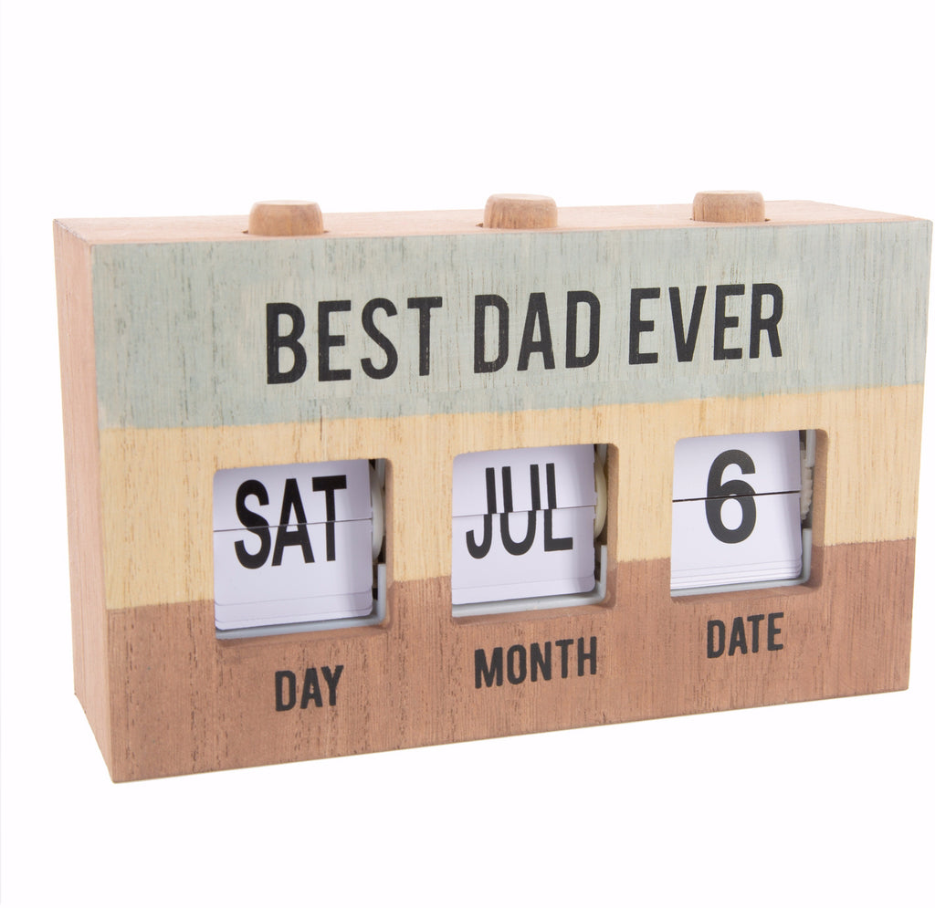 "Perpetual Desk Calendar-Best Dad (7.75"" x 4.5"")"