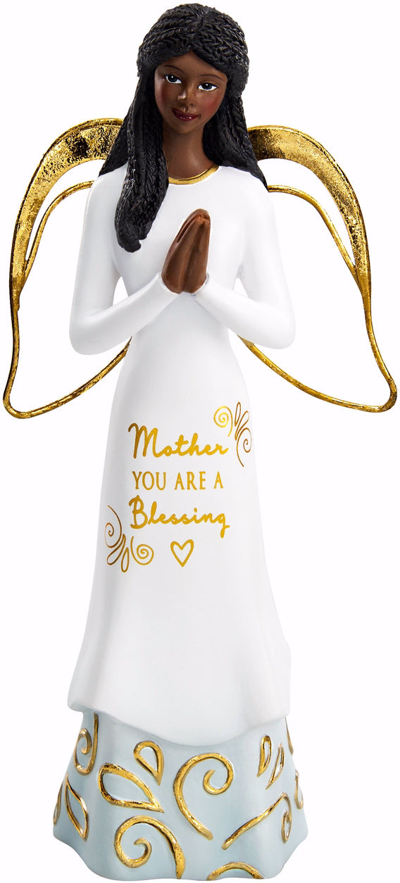 "Figurine-Ebony Angel-Mother (5.5"")"