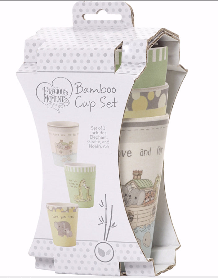 Cup Set-Noah's Ark-Giraffe-Elephant (3 Pieces)
