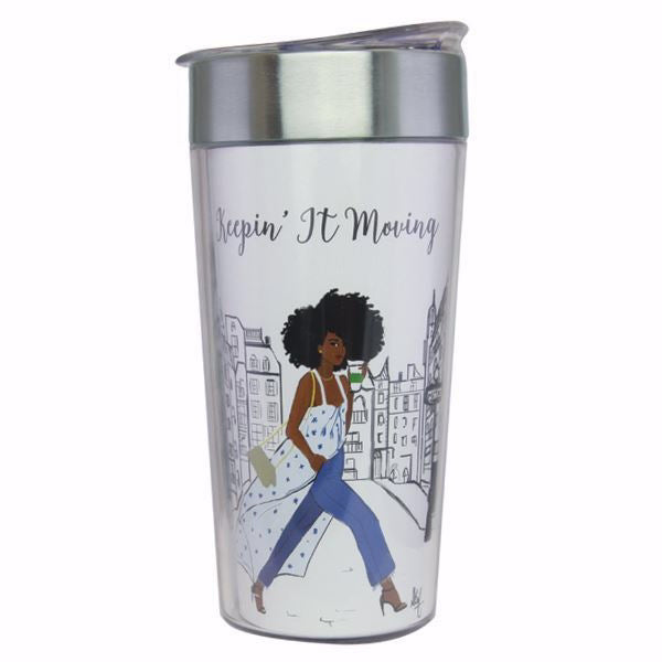 Travel Cup-Keepin' It Moving (18 Oz)