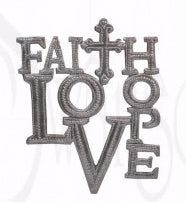 "Wall Art-Faith Hope Love (10"" x 8"")"