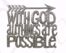 "Wall Art-All Things Possible (14"" x 11"")"