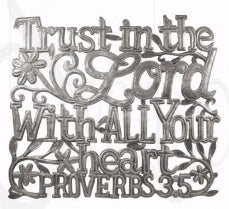 "Wall Art-Proverbs 3:5 (16"" x 19"")"