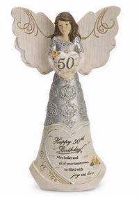 "Figurine-Angel-50th Birthday (6"")"