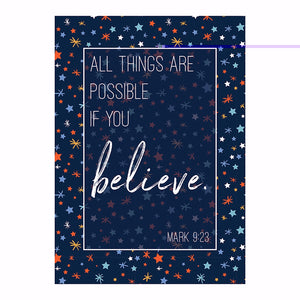 "Poster-Large-All Things Are Possible (13.5"" x 19"")"