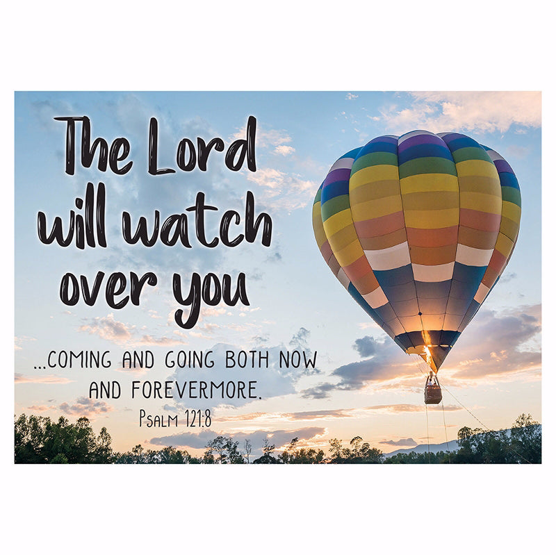 "Postcard-The Lord Will Watch Over You (6"" x 4.25"") (Pack Of 6)"