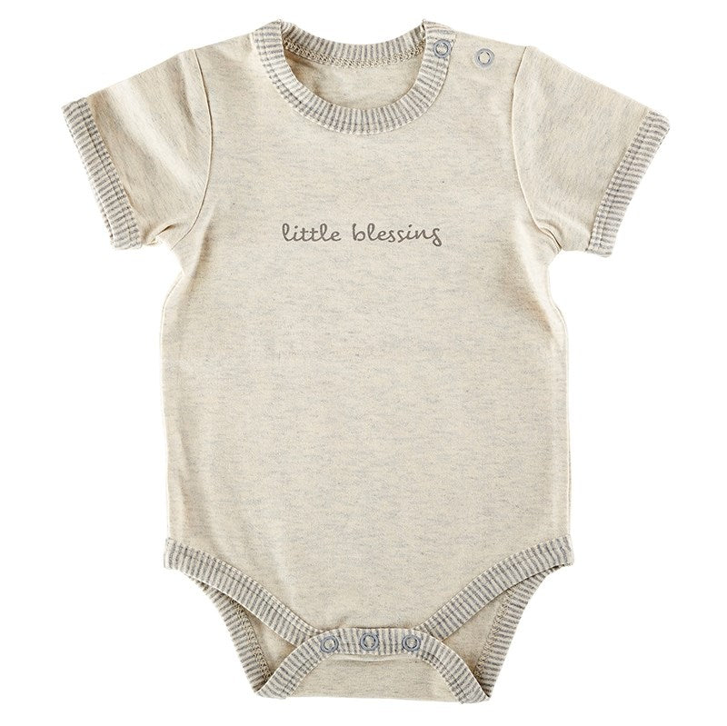 Baby-Snapshirt-Cream-Grey-Little Blessing (0-3 Months)