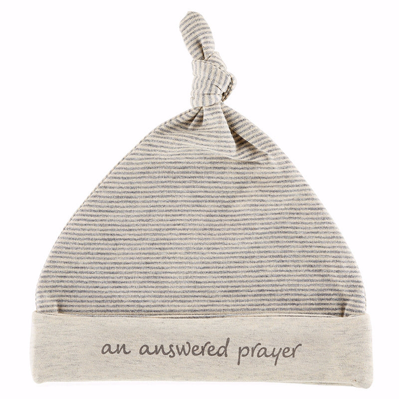 Baby-Knit Hat-Grey-An Answered Prayer