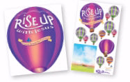 Rise Up With Jesus: Giant Decorating Posters (Pack Of 3)