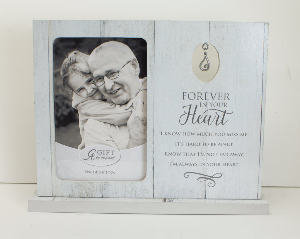 Photo Frame-Memorial-Forever In Our Heart (Holds 4 x 6 Photo)