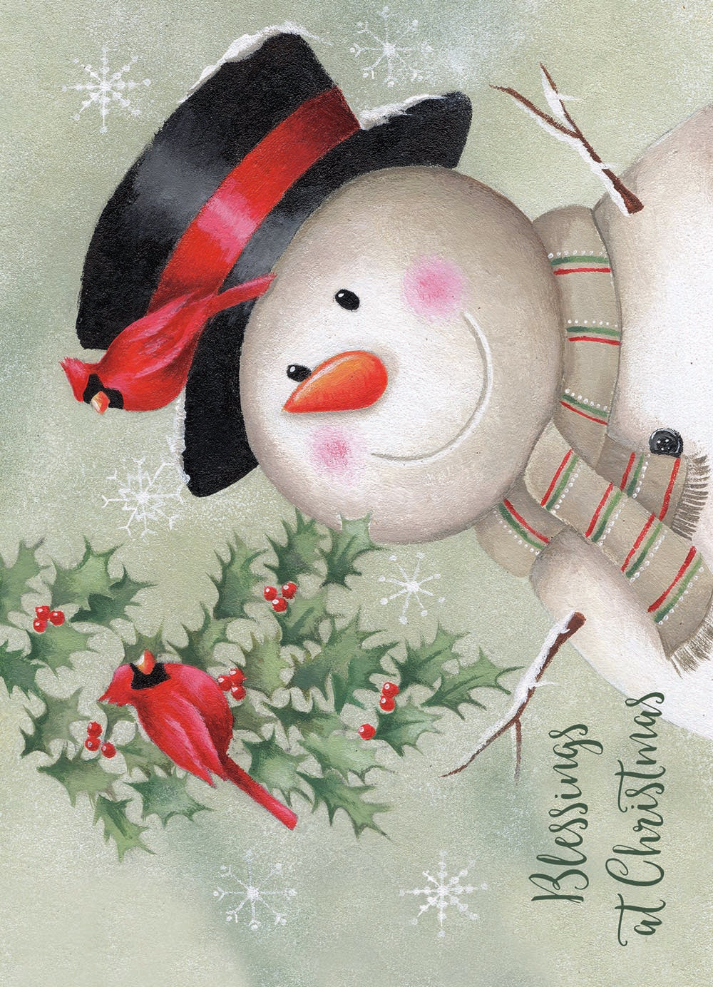Card-Boxed-Holly Snowman (Box Of 20)