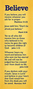Bookmark-Bible Basics-Believe (Pack Of 10)
