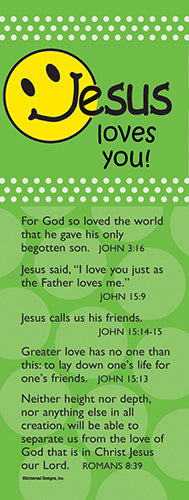 Bookmark-Bible Basics-Jesus Loves You (Pack Of 10)