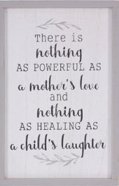 Wall Sign-Nothing As Powerful As A Mother's Love (12 X 18)