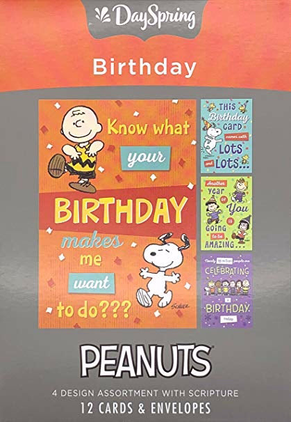 Card-Boxed-Birthday-Peanuts-NCV (Box Of 12)