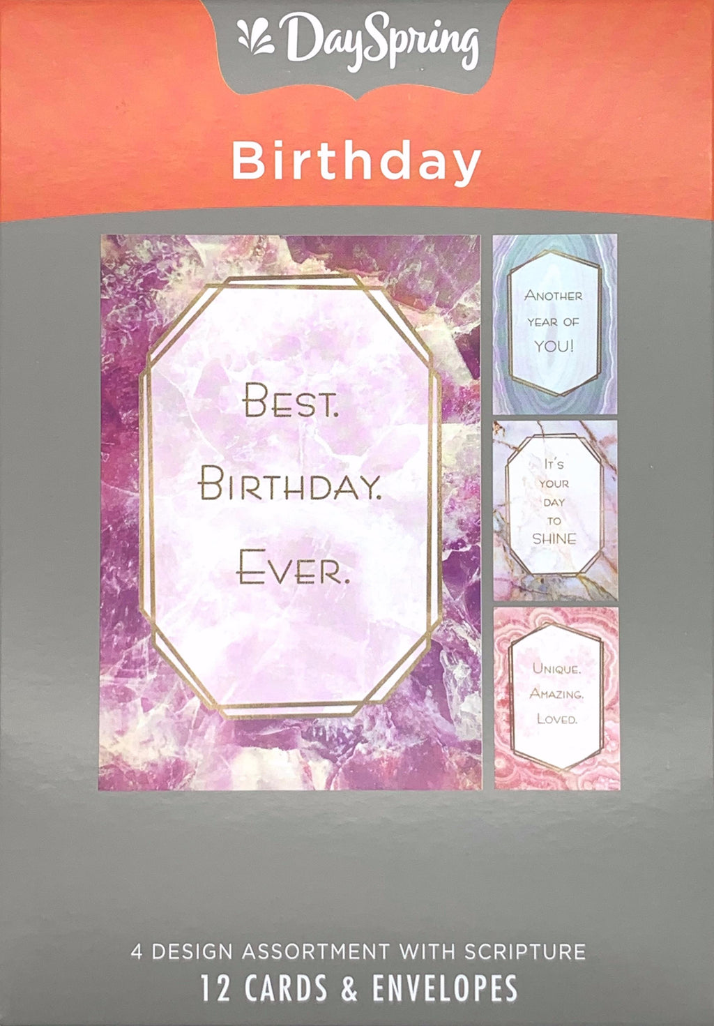 Card-Boxed-Birthday-Marble & Geodes (Box Of 12)