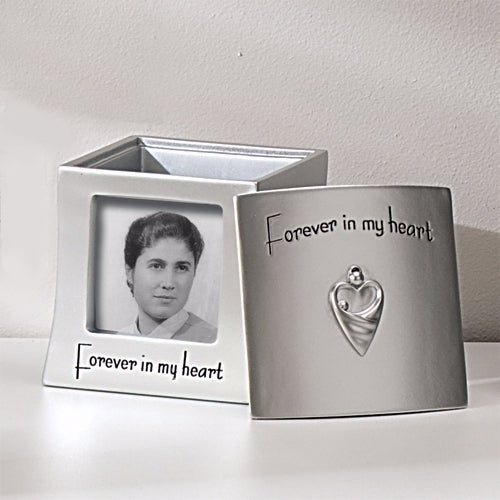 Memorial Frame Keepsake Box-Forever In My Heart (Holds 2.5 x 2.5 Photo)