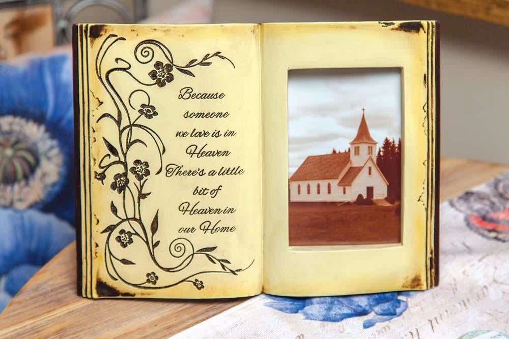 "Frame-Memorial Book-Heaven In Our Home (11.5"" x 8.25"" x 1.25"")"