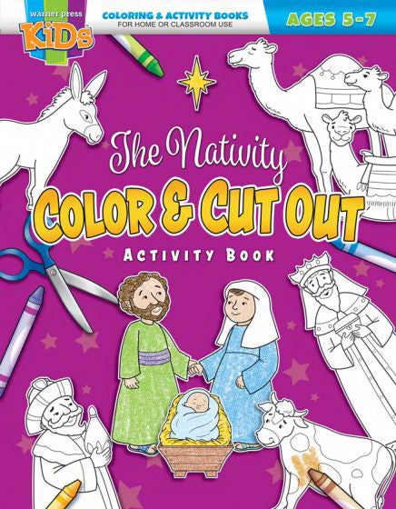 The Nativity Color & Cut Out Activity Book