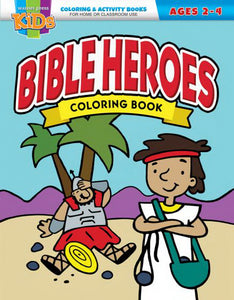 Bible Heroes Coloring Book (Ages 2-4)