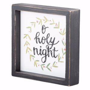 "Framed Board-O Holy Night (8"" x 8"")"