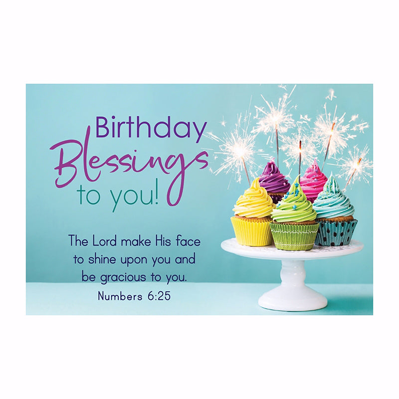"Cards-Pass It On-Birthday Blessings (3"" x 2"") (Pack Of 25)"