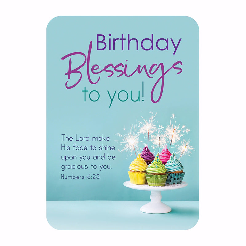 "Verse Card-Birthday Blessings (2.5""x 3.5"")"
