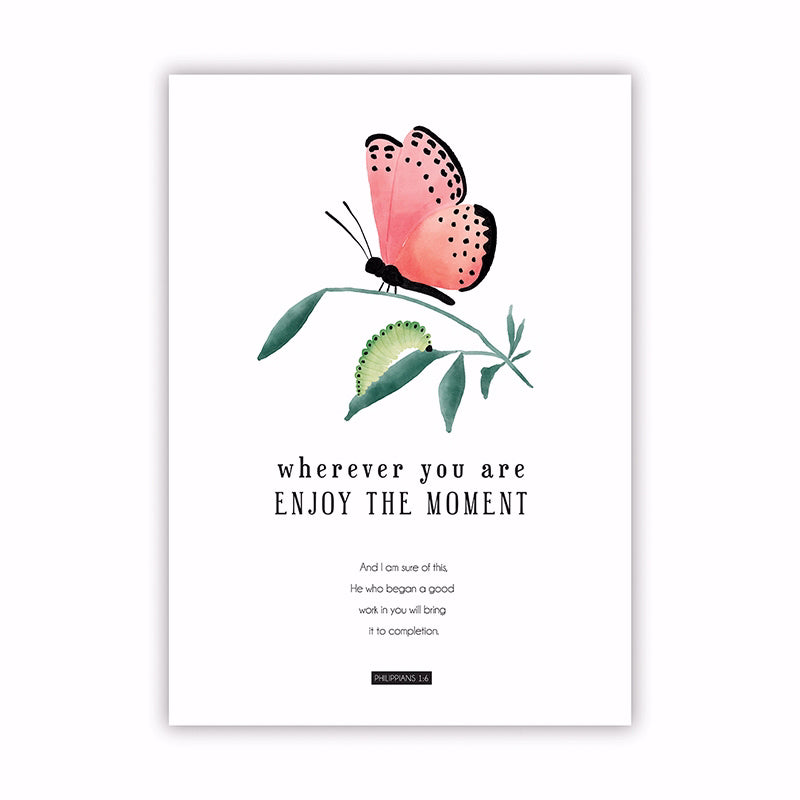 "Poster-Large-Wherever You Are Enjoy The Moment (13.5"" x 19"")"