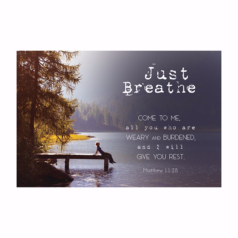 "Poster-Small-Just Breathe (13.5"" x 9"")"