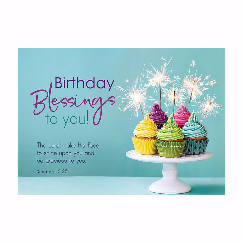 "Postcard-Birthday Blessings To You (6"" x 4.25"") (Pack Of 6)"
