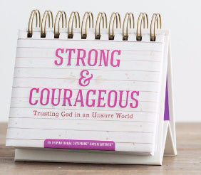 Calendar-Strong & Courageous (Day Brightener)