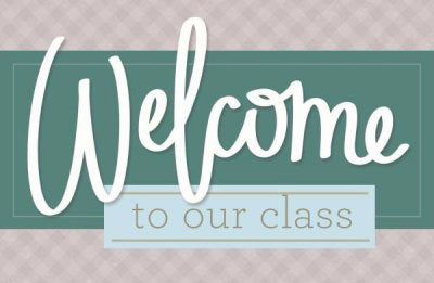 Postcard-Welcome To Our Class (Philippians 1:3 KJV) (Pack Of 25)