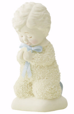 Figurine-Snowbabies-Saying Prayers (Boy)