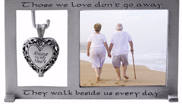 "Frame-Memorial w-Heart Locket (Holds 2.5"" x 2.25"" Photo)"