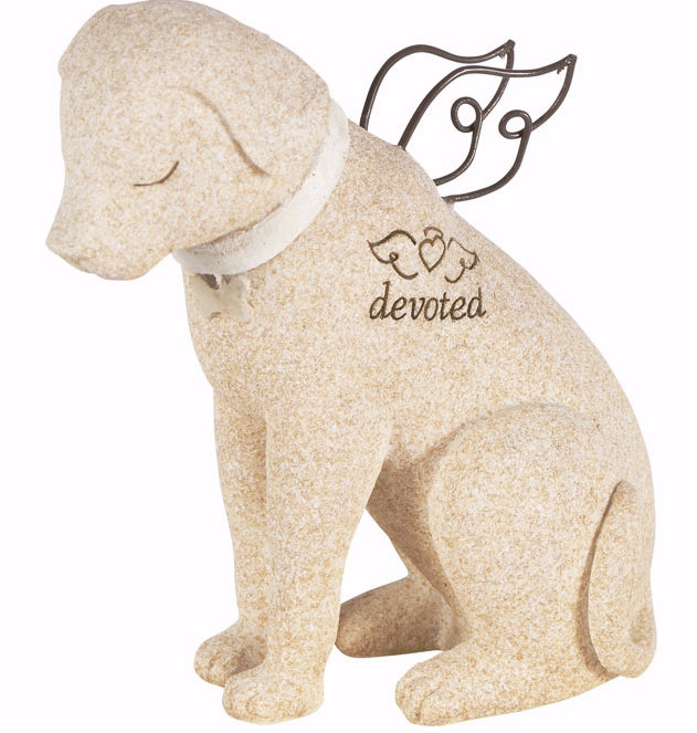 "Figurine-Faithful Angels-Devoted Dog (4.5"" x 3.5"")"