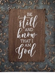 Embossed Frame Sign-Be Still And Know (11 x 14)