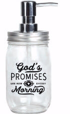 Soap Dispenser-Mason-God's Promises (16 Oz)