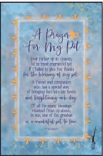 Plaque-Whispers Of The Heart-A Prayer For My Pet (6 x 9)
