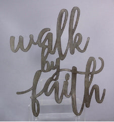 Plaque-Walk By Faith-Metal (17 x 19.75)