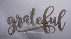 Wall Sign-Grateful-Metal (19.25 x 9)
