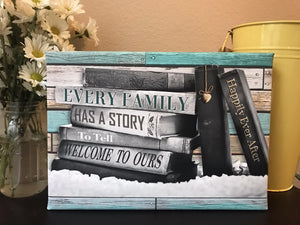 Frameless Canvas-Our Story (10 x 14)
